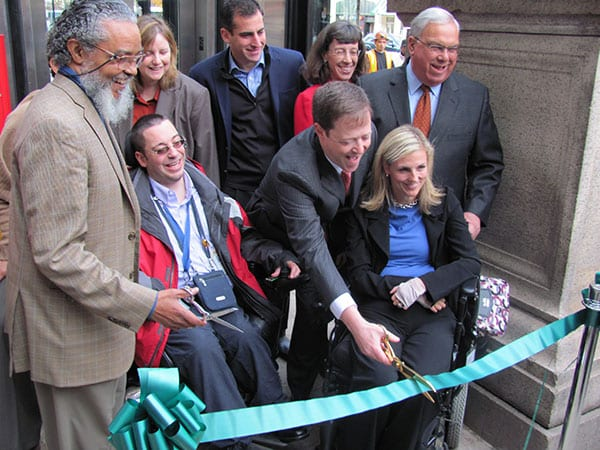 Ribbon Cutting at Copley Station New Elevator