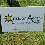 "A sign that reads ""Outdoor Access Recreation for All"""