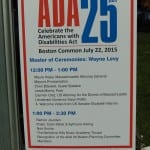Schedule of the ADA march from 12:30-2 pm.