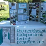 An information table from the Northeast Independent Living Program.