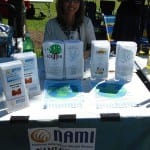 Photo of NAMI information table.