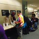 BCIL staff greet and check in attendees