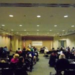Wide view of the annual meeting.