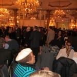 View of guests conversing over drinks.