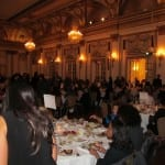 Attendees have dinner before the event begins.