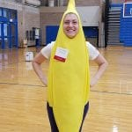 Person dressed as a banana.