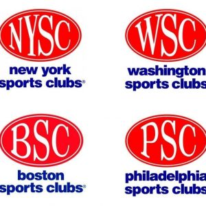 Logos for sports clubs in New York, Washington, Boston and Philadelphia. Red ellipse over blue font.