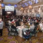 Guests attending the award ceremony dinner.