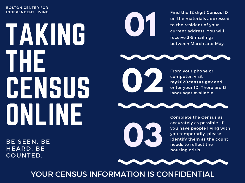 steps for taking the online census